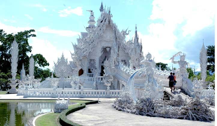 O magnífico Templo Branco de Chiang Rai
