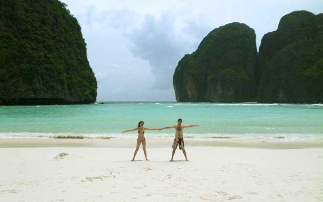 Foto da minha visita a Maya Bay