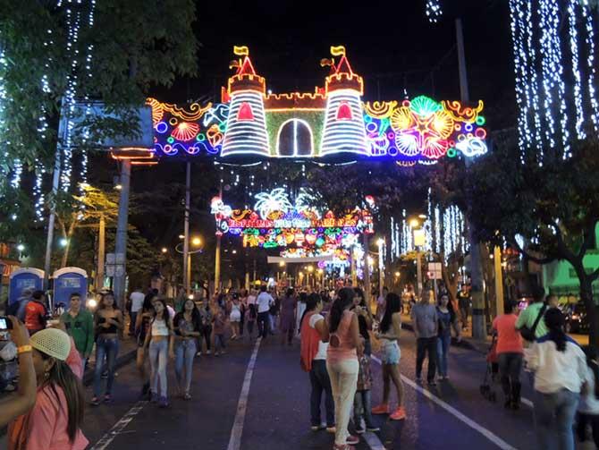 Decoração de Natal em Medellín