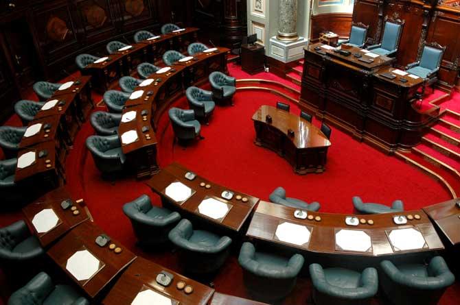 area interna do senado do uruguai
