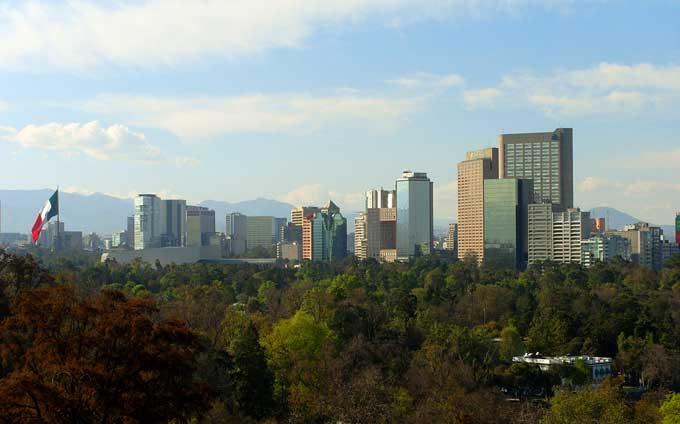 bairro de Polando na Cidade do México