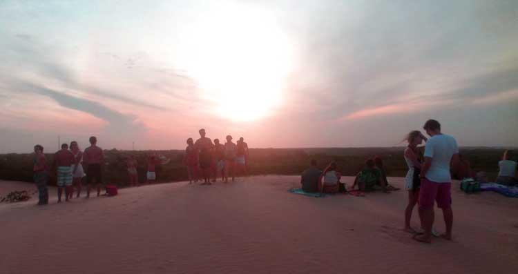 Pôr do sol visto das dunas