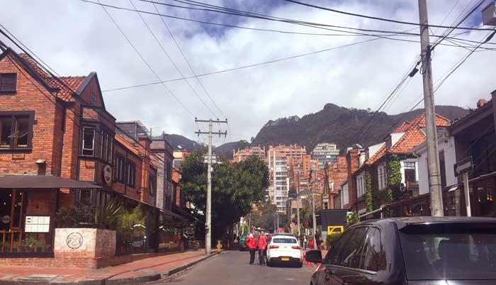 Zona G de Bogotá região de restaurantes