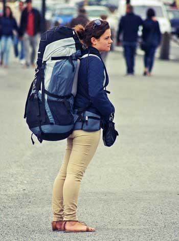 mochilão grande para viajar