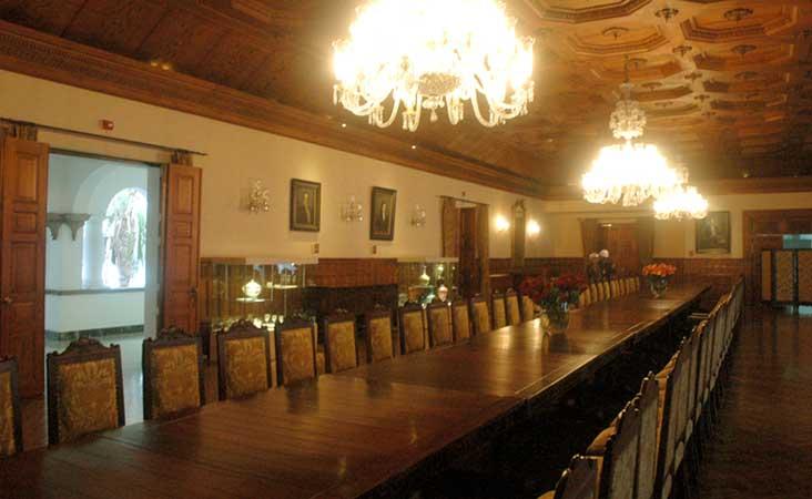 sala de reunião do Palácio Presidencial do Equador