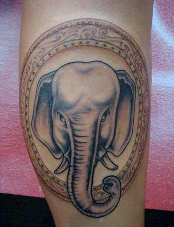 tatuagem de elefante feita na Tailândia