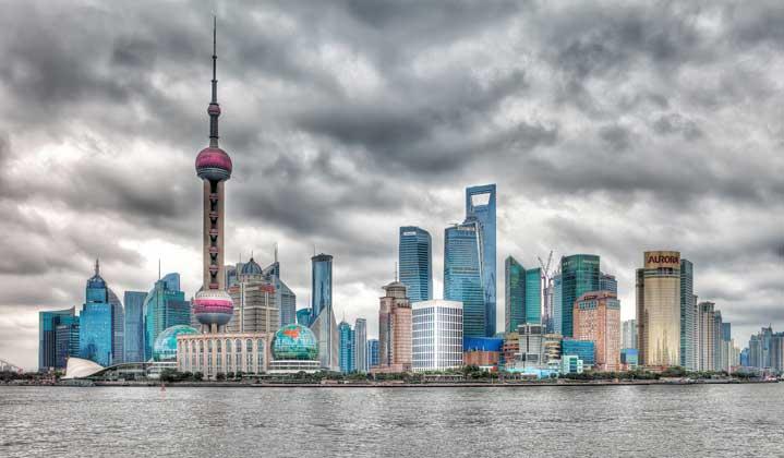 parte moderna e cara de xangai na china