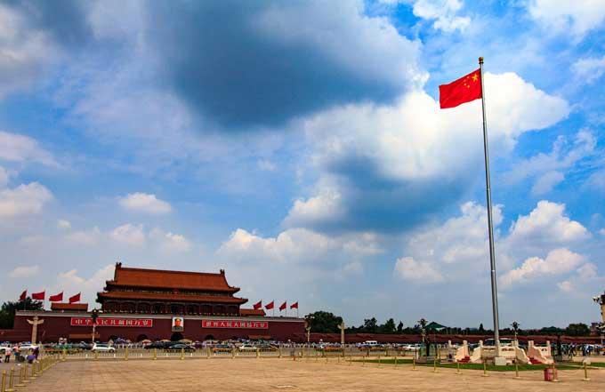 praça da paz celestial Tiananmen de pequim