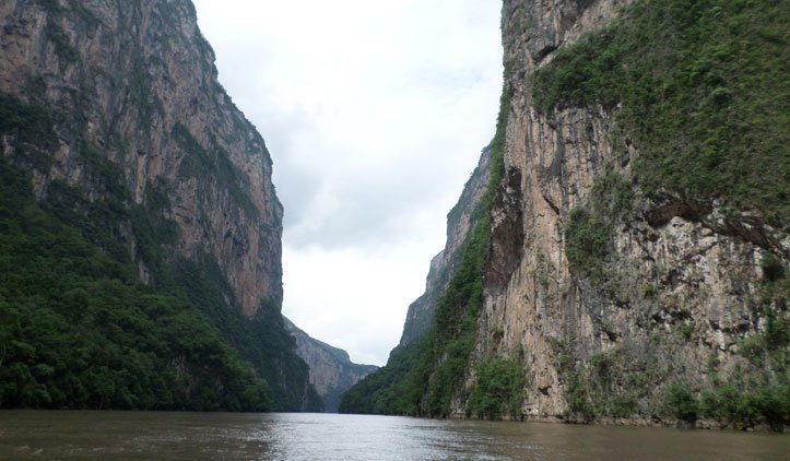 paredões do canyon do sumidero méxico
