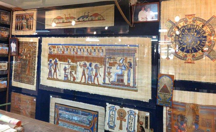 fábrica de papiro egito