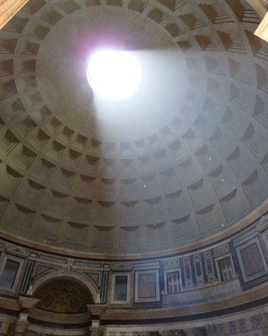 teto do Pantheon