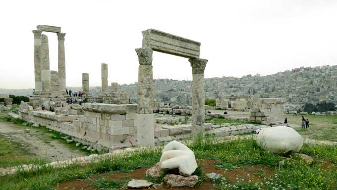 Cidadela de Amã jordania