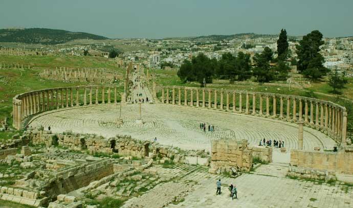 cidade romana jerash gerasa jordania