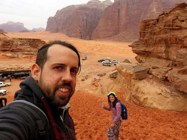 duna de areia deserto jordania