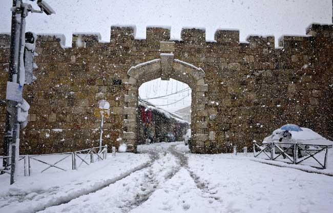 inverno neve em jerusalem