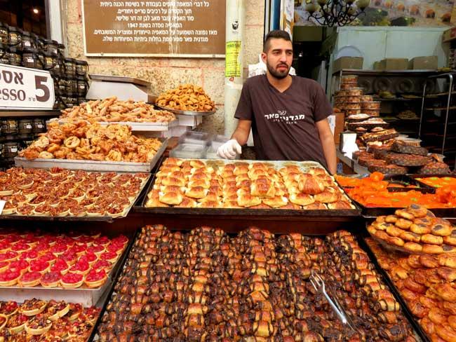 comidas do mercado de jerusalem