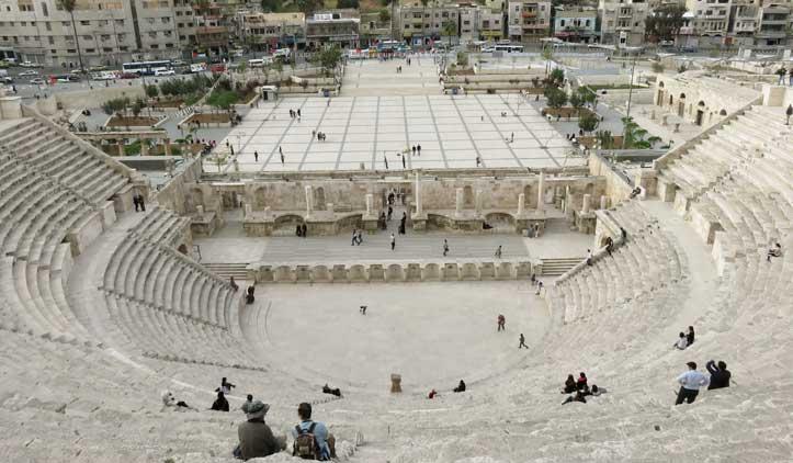 Amã, a capital da Jordânia, um lugar agradável e pitoresco