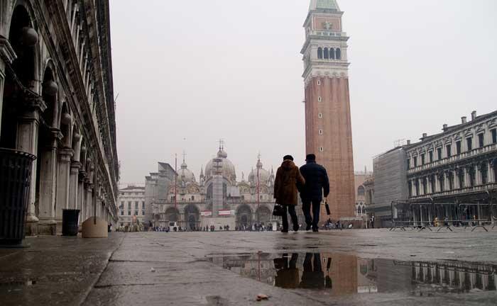 inverno frio em veneza