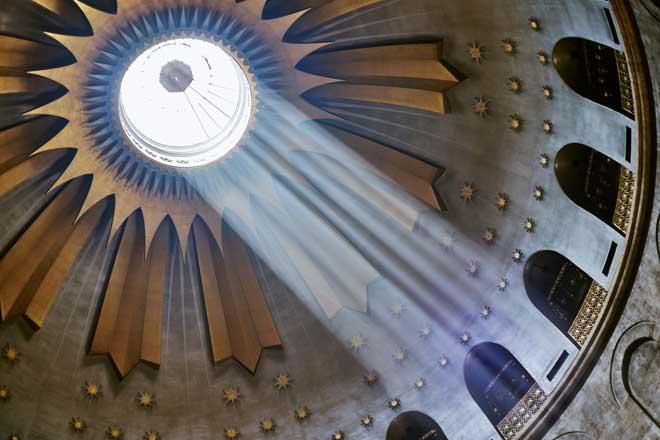 atrações israel teto basílica santo sepulcro