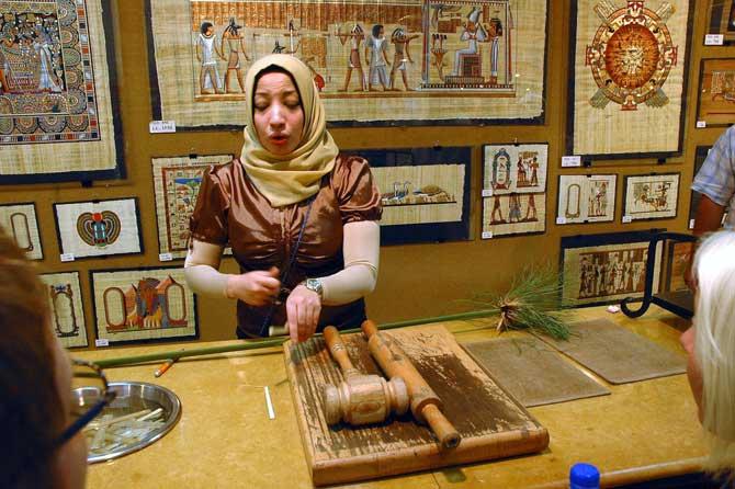 loja de papiros no egito