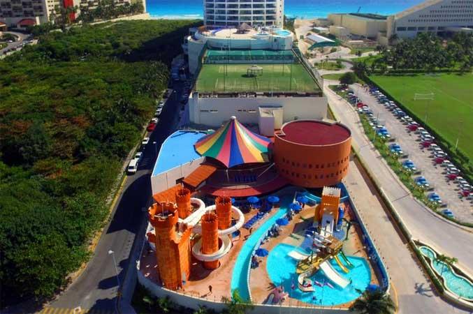 resort hotel para criança cancun